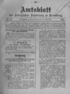 Amtsblatt der Königlichen Preussischen Regierung zu Bromberg. 1911.11.16 No.47