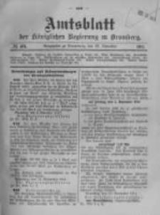 Amtsblatt der Königlichen Preussischen Regierung zu Bromberg. 1911.11.23 No.48