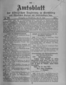 Amtsblatt der Königlichen Preussischen Regierung zu Bromberg. 1914.06.27 No.26