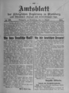 Amtsblatt der Königlichen Preussischen Regierung zu Bromberg. 1914.08.15 No.33