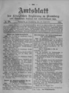 Amtsblatt der Königlichen Preussischen Regierung zu Bromberg. 1914.09.19 No.38