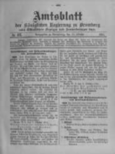 Amtsblatt der Königlichen Preussischen Regierung zu Bromberg. 1914.10.17 No.42