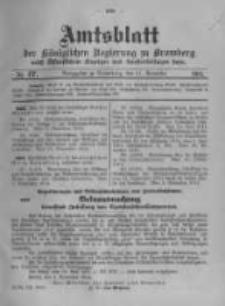 Amtsblatt der Königlichen Preussischen Regierung zu Bromberg. 1914.11.21 No.47