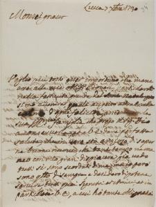 List NN do Jana Szembeka z 1730 roku