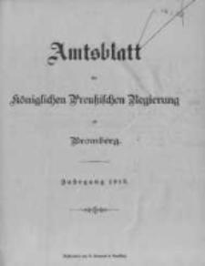 Amtsblatt der Königlichen Preussischen Regierung zu Bromberg. 1912.01.04 No.1