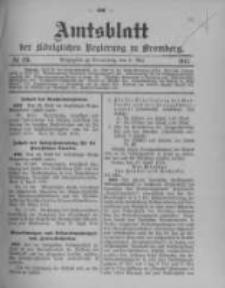 Amtsblatt der Königlichen Preussischen Regierung zu Bromberg. 1912.05.09 No.19