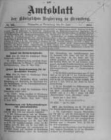 Amtsblatt der Königlichen Preussischen Regierung zu Bromberg. 1912.06.20 No.25