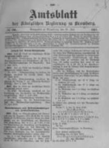 Amtsblatt der Königlichen Preussischen Regierung zu Bromberg. 1912.07.25 No.30