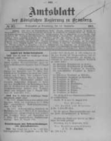 Amtsblatt der Königlichen Preussischen Regierung zu Bromberg. 1912.09.12 No.37