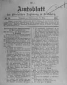 Amtsblatt der Königlichen Preussischen Regierung zu Bromberg. 1910.03.31 No.13