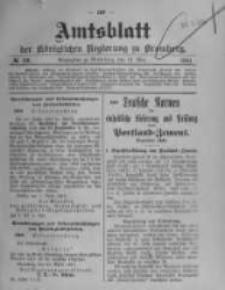 Amtsblatt der Königlichen Preussischen Regierung zu Bromberg. 1910.05.12 No.19