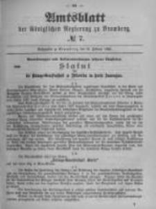 Amtsblatt der Königlichen Preussischen Regierung zu Bromberg. 1899.02.16 No.7