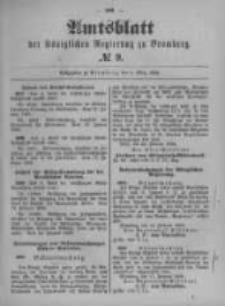Amtsblatt der Königlichen Preussischen Regierung zu Bromberg. 1899.03.02 No.9