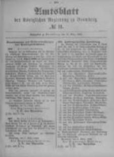 Amtsblatt der Königlichen Preussischen Regierung zu Bromberg. 1899.03.16 No.11