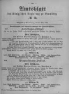 Amtsblatt der Königlichen Preussischen Regierung zu Bromberg. 1899.03.23 No.12