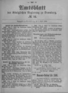 Amtsblatt der Königlichen Preussischen Regierung zu Bromberg. 1899.04.06 No.14