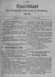 Amtsblatt der Königlichen Preussischen Regierung zu Bromberg. 1899.04.13 No.15
