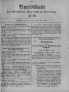 Amtsblatt der Königlichen Preussischen Regierung zu Bromberg. 1899.04.20 No.16
