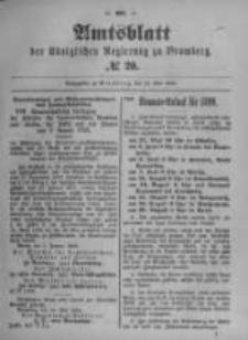 Amtsblatt der Königlichen Preussischen Regierung zu Bromberg. 1899.05.18 No.20