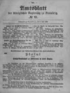 Amtsblatt der Königlichen Preussischen Regierung zu Bromberg. 1899.07.06 No.27
