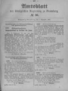 Amtsblatt der Königlichen Preussischen Regierung zu Bromberg. 1899.09.07 No.36