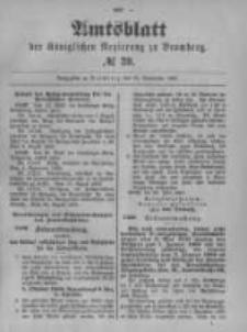 Amtsblatt der Königlichen Preussischen Regierung zu Bromberg. 1899.09.28 No.39