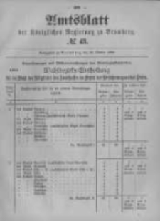 Amtsblatt der Königlichen Preussischen Regierung zu Bromberg. 1899.10.26 No.43