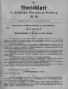 Amtsblatt der Königlichen Preussischen Regierung zu Bromberg. 1899.11.09 No.45