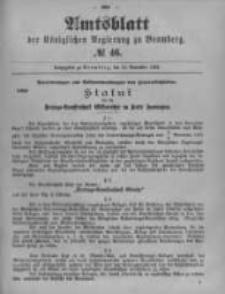 Amtsblatt der Königlichen Preussischen Regierung zu Bromberg. 1899.11.16 No.46