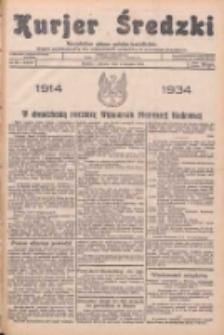 Kurjer Średzki: niezależne pismo polsko-katolickie: organ publikacyjny dla wszystkich urzędów w powiecie średzkim 1934.08.04 R.4 Nr88