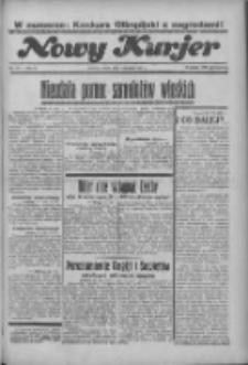 """Nowy Kurjer: dawniej """"Postęp"""" 1936.08.01 R.47 Nr177"""