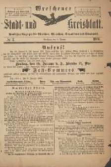 Wreschener Stadt und Kreisblatt: amtlicher Anzeiger für Wreschen, Miloslaw, Strzalkowo und Umgegend 1901.01.09 Nr2
