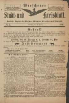 Wreschener Stadt und Kreisblatt: amtlicher Anzeiger für Wreschen, Miloslaw, Strzalkowo und Umgegend 1901.01.12 Nr3