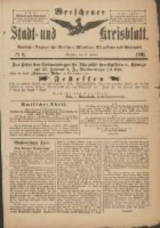 Wreschener Stadt und Kreisblatt: amtlicher Anzeiger für Wreschen, Miloslaw, Strzalkowo und Umgegend 1901.01.26 Nr8