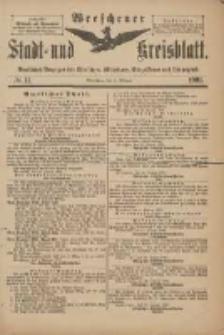 Wreschener Stadt und Kreisblatt: amtlicher Anzeiger für Wreschen, Miloslaw, Strzalkowo und Umgegend 1901.02.02 Nr11