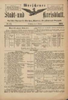 Wreschener Stadt und Kreisblatt: amtlicher Anzeiger für Wreschen, Miloslaw, Strzalkowo und Umgegend 1901.02.09 Nr13