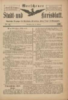 Wreschener Stadt und Kreisblatt: amtlicher Anzeiger für Wreschen, Miloslaw, Strzalkowo und Umgegend 1901.02.13 Nr14
