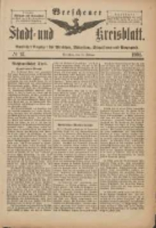 Wreschener Stadt und Kreisblatt: amtlicher Anzeiger für Wreschen, Miloslaw, Strzalkowo und Umgegend 1901.02.16 Nr15