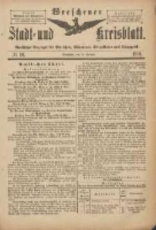 Wreschener Stadt und Kreisblatt: amtlicher Anzeiger für Wreschen, Miloslaw, Strzalkowo und Umgegend 1901.02.27 Nr18