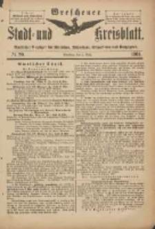 Wreschener Stadt und Kreisblatt: amtlicher Anzeiger für Wreschen, Miloslaw, Strzalkowo und Umgegend 1901.03.06 Nr20