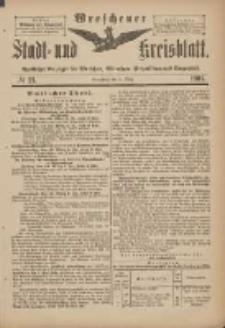 Wreschener Stadt und Kreisblatt: amtlicher Anzeiger für Wreschen, Miloslaw, Strzalkowo und Umgegend 1901.03.09 Nr21