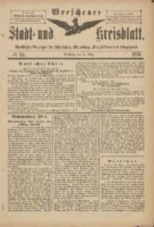 Wreschener Stadt und Kreisblatt: amtlicher Anzeiger für Wreschen, Miloslaw, Strzalkowo und Umgegend 1901.03.20 Nr24