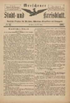 Wreschener Stadt und Kreisblatt: amtlicher Anzeiger für Wreschen, Miloslaw, Strzalkowo und Umgegend 1901.03.30 Nr27