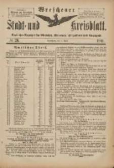 Wreschener Stadt und Kreisblatt: amtlicher Anzeiger für Wreschen, Miloslaw, Strzalkowo und Umgegend 1901.04.06 Nr29