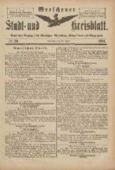 Wreschener Stadt und Kreisblatt: amtlicher Anzeiger für Wreschen, Miloslaw, Strzalkowo und Umgegend 1901.04.10 Nr30