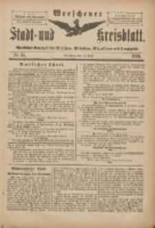 Wreschener Stadt und Kreisblatt: amtlicher Anzeiger für Wreschen, Miloslaw, Strzalkowo und Umgegend 1901.04.13 Nr31