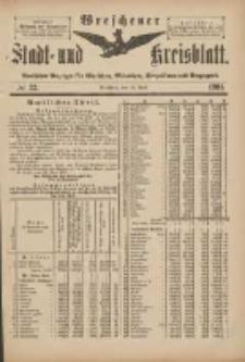 Wreschener Stadt und Kreisblatt: amtlicher Anzeiger für Wreschen, Miloslaw, Strzalkowo und Umgegend 1901.04.17 Nr32