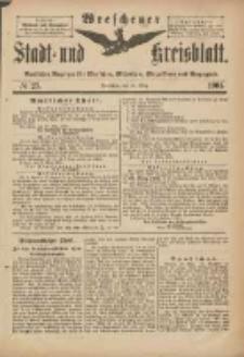 Wreschener Stadt und Kreisblatt: amtlicher Anzeiger für Wreschen, Miloslaw, Strzalkowo und Umgegend 1901.03.16 Nr23