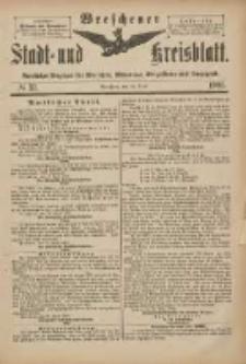 Wreschener Stadt und Kreisblatt: amtlicher Anzeiger für Wreschen, Miloslaw, Strzalkowo und Umgegend 1901.04.20 Nr33