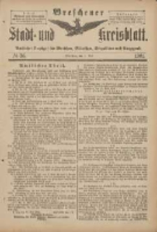 Wreschener Stadt und Kreisblatt: amtlicher Anzeiger für Wreschen, Miloslaw, Strzalkowo und Umgegend 1901.05.01 Nr36